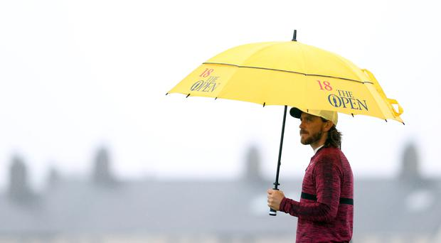 Tommy Fleetwood is a shot off the lead in the Open Championship (David Davies/PA)