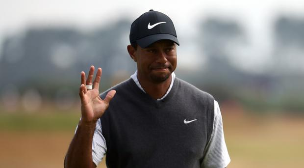 Tiger Woods carded a third round of 66 in the Open at Carnoustie (Jane Barlow/PA)