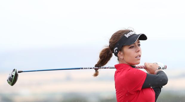 England's Georgia Hall remains in contention for the Ricoh Women's British Open (Jane Barlow/PA)