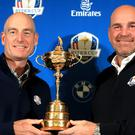 Jim Furyk, left, and Thomas Bjorn take the USA and Europe into battle (Adam Davy/PA)