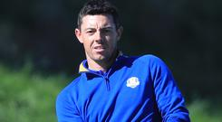 Rory McIlroy helped Europe win the Ryder Cup this year (Gareth Fuller/PA)