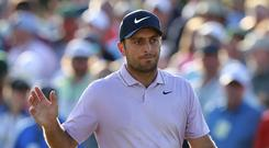 Francesco Molinari has a two-shot lead in the 83rd Masters (Curtis Compton/Atlanta Journal-Constitution via AP)
