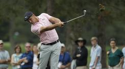 Bryson DeChambeau hit a hole-in-one in his final round on Sunday (Marcio Jose Sanchez/AP)