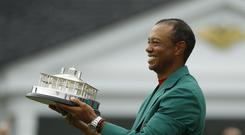 Tiger Woods won his 15th major title in the 83rd Masters (Matt Slocum/AP)