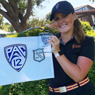 Big prize: Olivia Mehaffey after superb win in Pac-12 Championship at Palos Verdes, California
