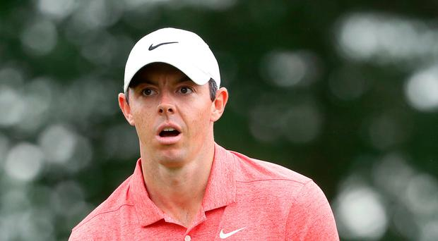 Off the pace: Rory McIlroy
