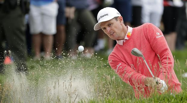 Justin Rose held a one-shot lead after a superb 65 on day one of the US Open at Pebble Beach (AP Photo/Matt York)