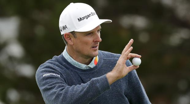 Justin Rose is one shot off the lead heading into the final round of the US Open (Matt York/AP)