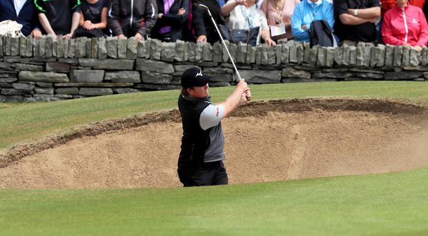 Eddie Pepperell is in the hunt for the Irish Open title. (Donall Farmer/PA)