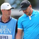 Brooks Koepka is happy for his caddie Ricky Elliott to have the attention this week (Richard Sellers/PA).