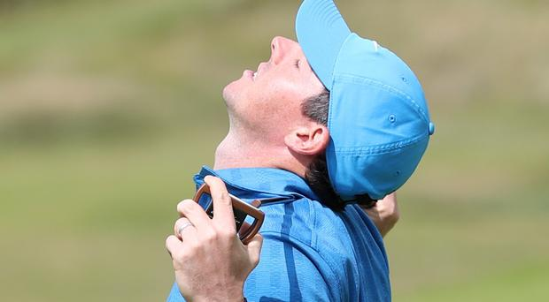 Rory McIlroy blew his latest tilt at a second Open title with a woeful eight over 79 on Thursday (David Davies/PA)