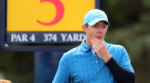 Rory McIlroy blew his chance of Open glory on home turf with a woeful opening-round 79 (Richard Sellers/PA)