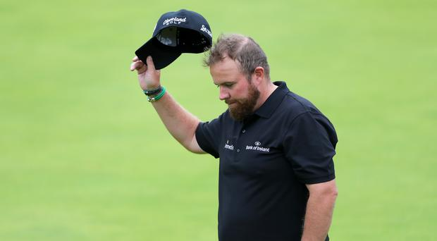 Shane Lowry claimed a share of the lead in the 148th Open at Royal Portrush (Richard Sellers/PA)