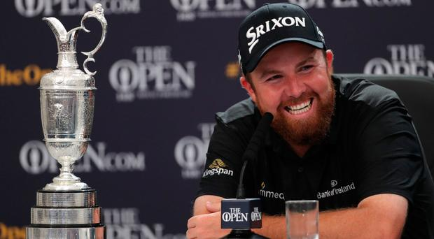 Winning smile: Shane Lowry with the Claret Jug