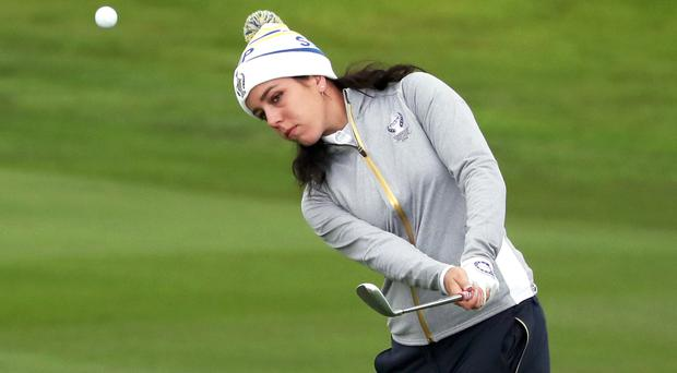Georgia Hall has not had a strong season in the build up to the Solheim Cup (Jane Barlow/PA)