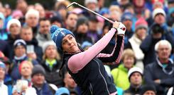 Georgia Hall and Celine Boutier fought back to secure Europe's only afternoon fourballs win against the USA at Gleneagles.