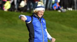 Suzann Pettersen held her nerve (Ian Rutherford/PA)