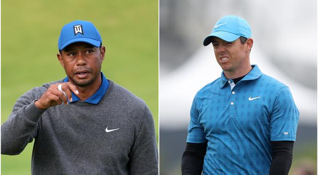 Tiger Woods and Rory McIlroy are set for a high-stakes match next month (David Davies/PA)