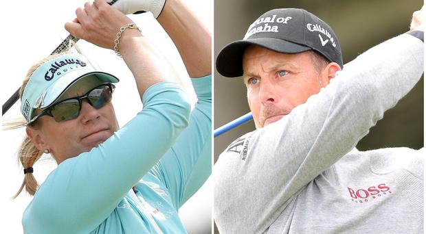 Annika Sorenstam (left) and Henrik Stenson (right) are co-hosts a new mixed tour event next year (PA)