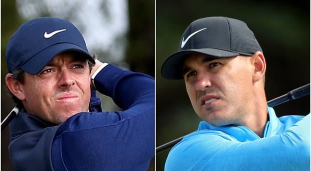 Brooks Koepka had dismissed the idea of a rivalry with Rory McIlroy (Jane Barlow/Niall Carson/PA).
