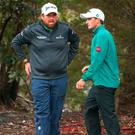Friendly advice: Shane Lowry has spoken to Paul Dunne