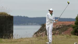 Rory McIlroy had an disappointing opening round at the US Open (AP)