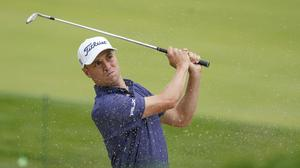 Justin Thomas holds a one-shot lead after day one of the US Open (AP Photo/Charles Krupa)