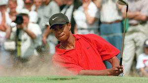 Tiger Woods secured superstar status at the 1997 Masters (Adam Butler/PA)