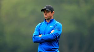 Rory McIlroy shot an opening round of 63 but is three shots off the lead (Adam Davy/PA)
