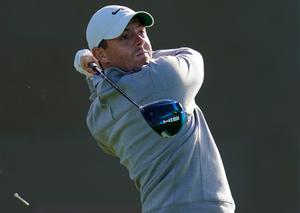 Mixed bag: Rory McIlroy wasn't at his best but is still in the thick of things in California
