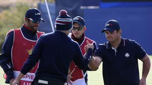 Patrick Reed (right) criticised Jordan Spieth for ending their partnership (Lynne Cameron/PA)