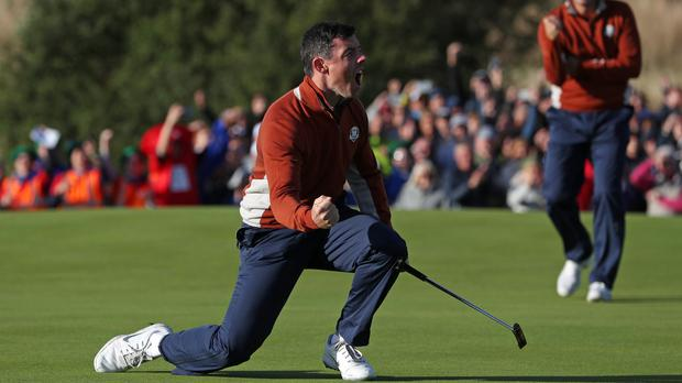 Rory McIlroy was producing some inspired golf on day two of the Ryder Cup (David Davies/PA)