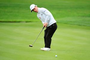 On course: Brendan Lawlor makes history by becoming the first disabled golfer to play on the European Tour