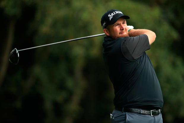 Looking good: Shane Lowry is one shot off the lead after the opening round