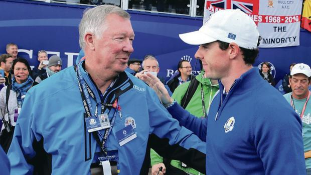 Rory McIlroy has given an updated on the recovery of Sir Alex Ferguson following a brain haemorrhage.