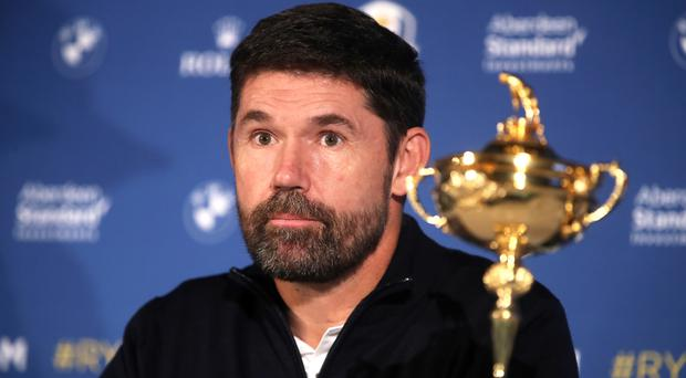European Ryder Cup captain Padraig Harrington will look to retain the trophy on America soil next year. (Adam Davy/PA)