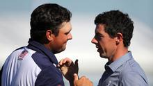 Rory McIlroy (right) and Patrick Reed