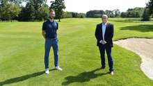 On course: Galgorm's director of golf Ross Oliver (left) and managing director Gary Henry yesterday
