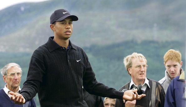 Tiger Woods enjoyed practising in the shadow of the Mountains of Mourne back in 2005, as he warmed up for the Open Championship at St Andrews