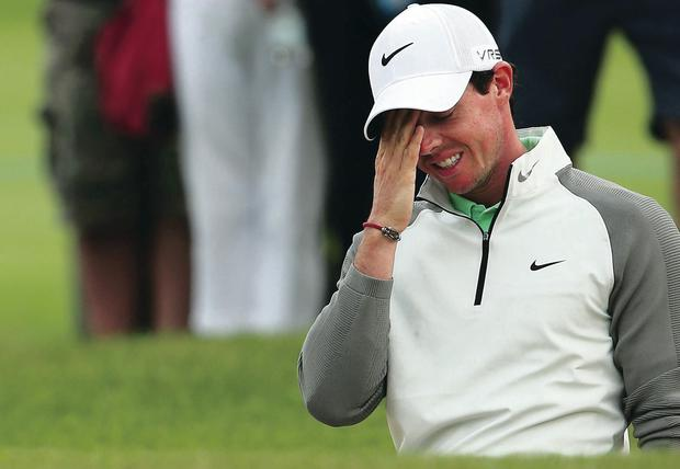 Frustrating: Rory McIlroy couldn't find his rhythm at Fota Island