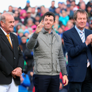 Happy days: Rory McIlroy was delighted with how the weekend went — even if he didn't make the cut