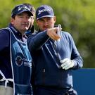 Cap fits: Graeme McDowell in the Pro-am at the K Club yesterday