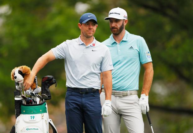 Different thinking: Rory McIlroy and Dustin Johnson