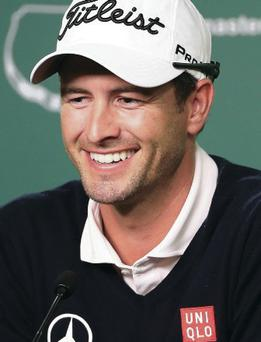 Champion: Adam Scott is out to retain his Masters title