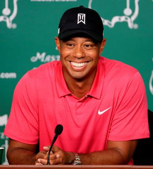 All smiles: Tiger Woods
