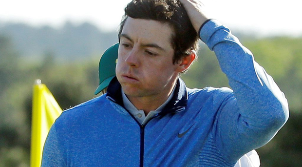 Testing times: Rory McIlroy again failed to tame Augusta and clinch the elusive Masters title to complete his Grand Slam