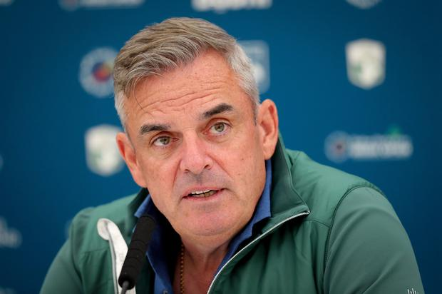 Helping hand: Paul McGinley has had words of advice for Rory McIlroy