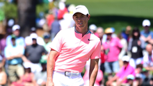 Nearly man: Rory McIlroy promises to return to Augusta next year to try and win his career Grand Slam