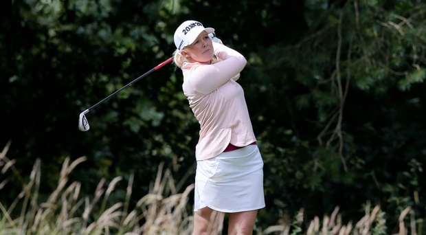In position: Stephanie Meadow is just three shots off the lead