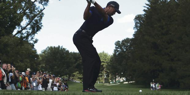 In form: Tiger Woods is back in business ahead of the next major challenge